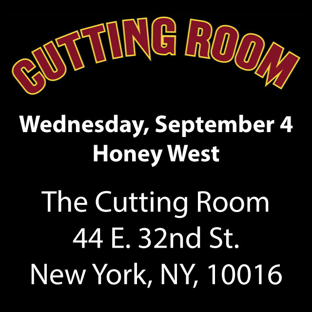 Honey West Back In New York City at The Cutting Room September 4, 2019!